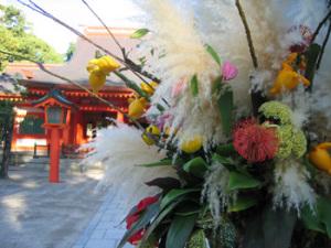住吉神社in博多&不思議なフラワーアレンジメント