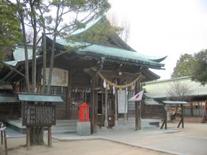 忌宮神社拝殿