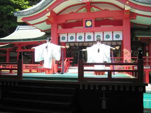 赤間神宮神楽舞